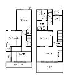 [タウンハウス] 兵庫県神戸市西区池上4丁目 の賃貸【/】の間取り