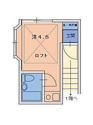 パトリエ第一常盤台[2階]の間取り