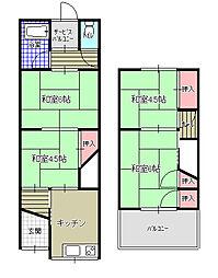 [テラスハウス] 大阪府東大阪市東鴻池町4丁目 の賃貸【/】の間取り