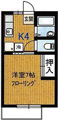 グランドハイツ5[2階]の間取り