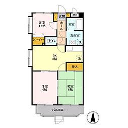 ユーミー宮の杜[3階]の間取り