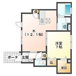 幸区小向西町新築計画[1階]の間取り