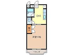 静岡県富士市前田の賃貸マンションの間取り