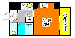 ジオ・グランデ・高井田 408号室[4階]の間取り