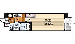 アール京都グレイス[102号室号室]の間取り
