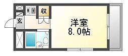 兵庫県尼崎市大物町2丁目の賃貸マンションの間取り