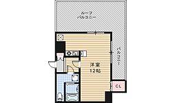 ルクレール鶴ヶ丘[1001号室]の間取り