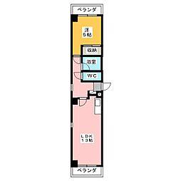 星ヶ丘第1ビル[3階]の間取り