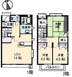 [テラスハウス] 広島県広島市西区高須台1丁目 の賃貸【/】の間取り