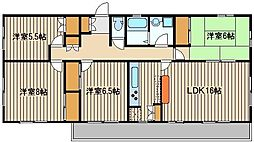 パークレイン[2階]の間取り