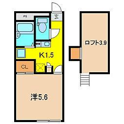 NEXT DOOR II[1階]の間取り
