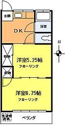 ホマレコーポ[2階]の間取り