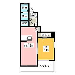 プランドールアネックスA[1階]の間取り