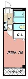 スカイハイツ折尾[302号室]の間取り
