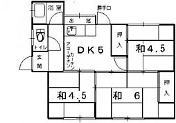 [一戸建] 兵庫県姫路市広畑区才 の賃貸【/】の間取り