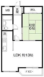 くさかマンション[3-E号室]の間取り