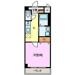 アーバンリブ[2階]の間取り