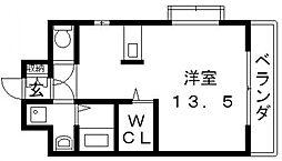 ロータリーマンション長田東[705号室号室]の間取り