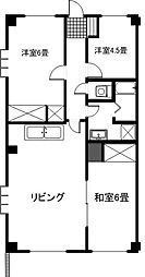 茨城県つくば市上横場の賃貸マンションの間取り