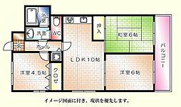 ライオンズマンション国泰寺[1103号室]の間取り