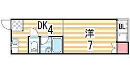 太田ハイツ[203号室]の間取り