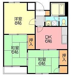 サンシャインハウス湘南台[205号室]の間取り