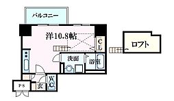 KatayamaBLDG26 12階ワンルームの間取り
