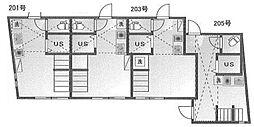 新築 ルームズ市谷B(ネット無料)[B205号室号室]の間取り
