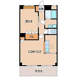 コンフォース21[1階]の間取り