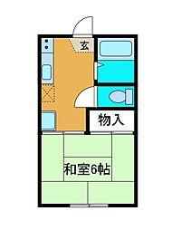コーポ渋谷[2階]の間取り
