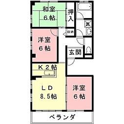 レジデンス美笠[2階]の間取り