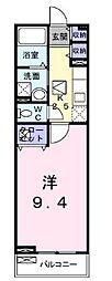 高松琴平電気鉄道志度線 沖松島駅 徒歩4分の賃貸アパート 1階1Kの間取り