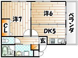 メゾン内田[3階]の間取り