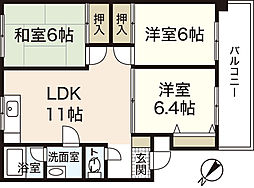 11KAWAI[3階]の間取り