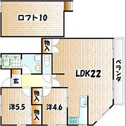 ウッドストック[2階]の間取り