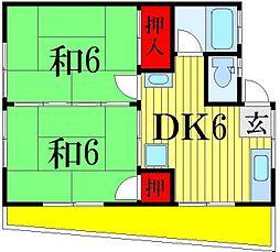 千葉県船橋市三山7丁目の賃貸アパートの間取り