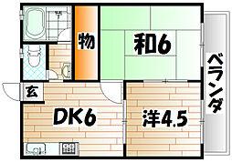 パインハイツ[2階]の間取り