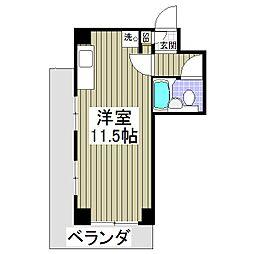東京都東大和市新堀3丁目の賃貸アパートの間取り
