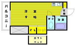 福岡県福岡市東区雁の巣2丁目の賃貸アパートの間取り