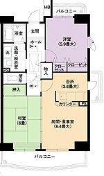 URアーバンラフレ小幡7号棟[1階]の間取り