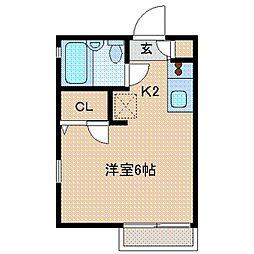 神奈川県横浜市神奈川区幸ケ谷の賃貸アパートの間取り