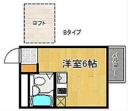 アースシティ田尻[1階]の間取り