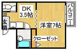 グレード1住道[3階]の間取り
