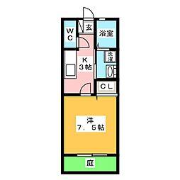 ハッピーハウスIII[1階]の間取り