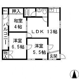 小阪ハイツ[206号室号室]の間取り