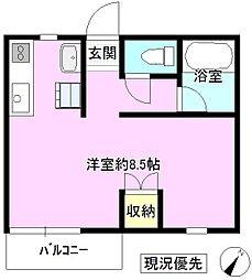 長野県上田市常田2丁目の賃貸マンションの間取り