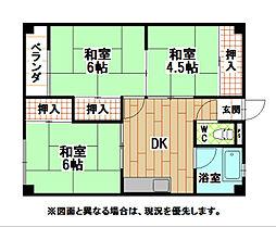 木村ビル(片野)[2階]の間取り