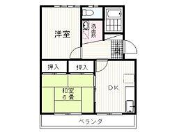 静岡県駿東郡清水町徳倉(上徳倉、下徳倉、外原)の賃貸アパートの間取り