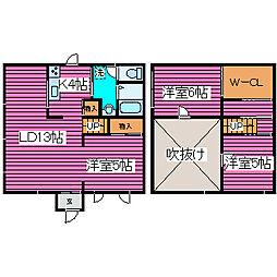 [タウンハウス] 北海道札幌市東区北三十七条東29丁目 の賃貸【北海道 / 札幌市東区】の間取り