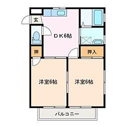 第2サニ−コ−ポ[1階]の間取り